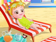 Baby Hazel At Beach Game