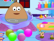 Baby Pou Bathing Game