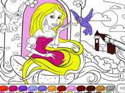 Rapunzel In The Tower Coloring Game