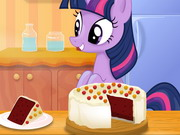 Twilight Sparkle Cooking Red Velvet Cake